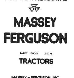 massey ferguson mf 302 mf 304 tractor mf 320 backhoe service manual rh repairmanual com massey [ 1024 x 1346 Pixel ]