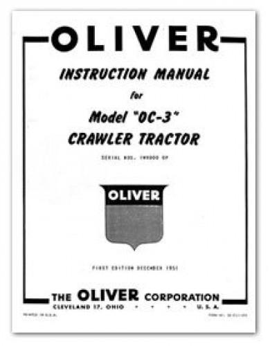 Oliver OC-3 Crawler Tractor Instruction Manual