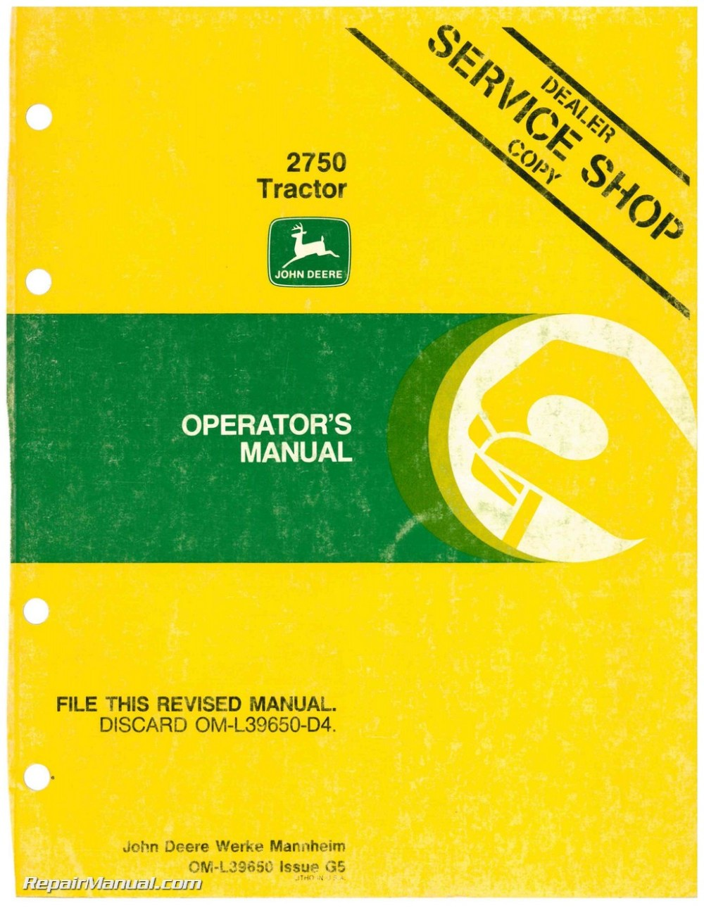 medium resolution of john deere 2750 tractor operators manual john deere 1010 wiring diagram john deere 2750 tractor operators