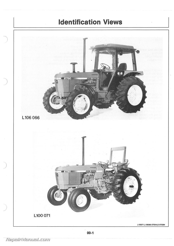 john deere 2750 alternator wiring diagram dual battery setup boat tractor operators manual