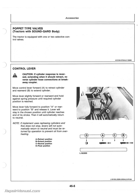john deere 2750 alternator wiring diagram trailer with brakes brake 7 way electric tractor operators manual