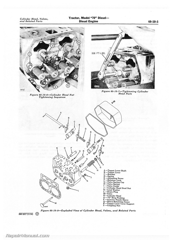 john deere model a engine diagram