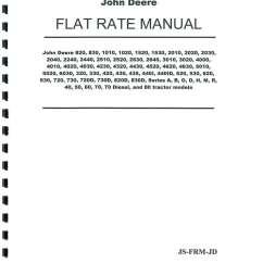 John Deere 3020 Wiring Diagram Pdf 1986 Mazda B2000 Radio Tractor Flat Rate Manual
