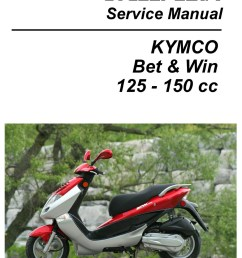 kymco bet win 125 and 150 service manual printed by cyclepedia jpg [ 1024 x 1325 Pixel ]