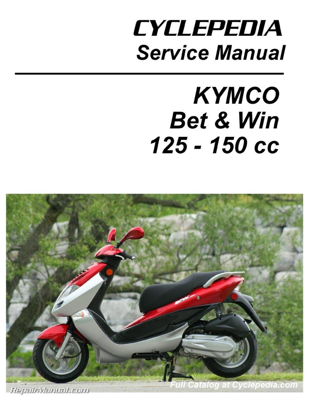 medium resolution of kymco bet win 125 and 150 service manual printed by cyclepedia jpg