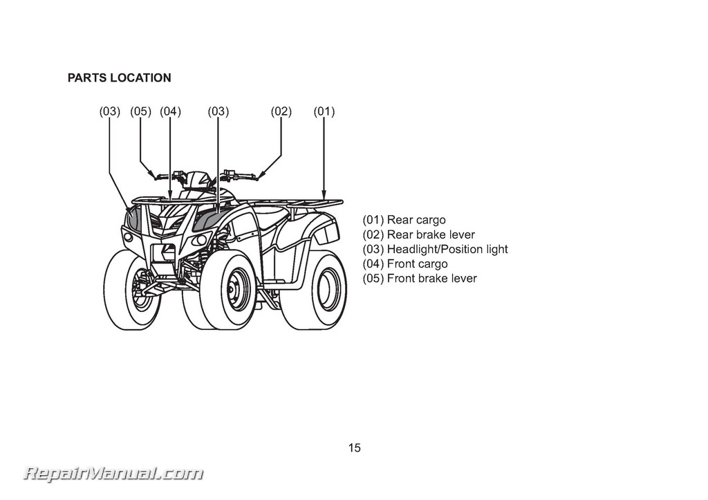 KYMCO MXU 150 250 300 OFF-ROAD ATV Owners Manual