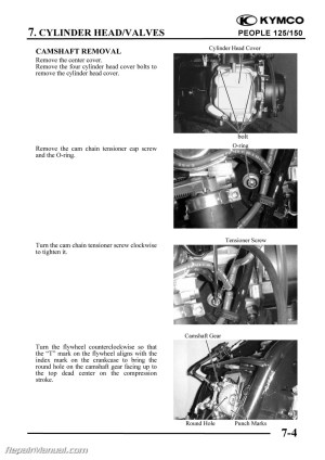 KYMCO People 125 150 Cyclepedia Printed Scooter Service Manual