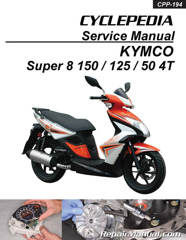 Scooter Wiring Diagrams Kymco Super 8 150 125 50 4t Cyclepedia Scooter Service