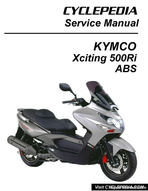 small resolution of kymco xciting 500ri abs scooter service manual