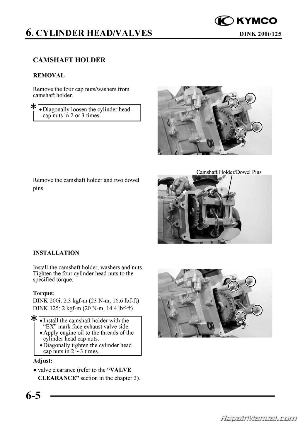 4 Stroke Motorcycle Engine Diagram Kymco Yager Dink 125cc 200cc Scooter Printed Repair Manual