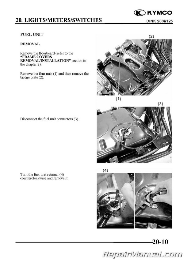 KYMCO Yager / Dink 125cc 200cc Scooter Printed Repair Manual