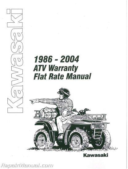 Kawasaki ATV Warranty Flat Rate Manual 1986-2004