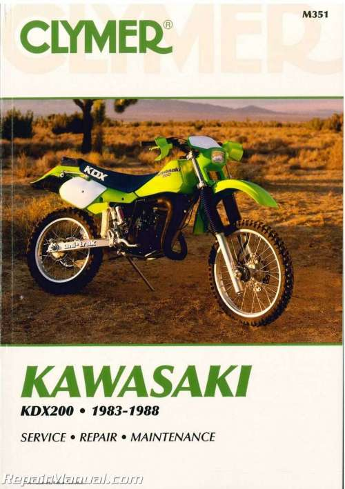 small resolution of kawasaki kdx200 1983 1988 clymer motorcycle repair manualkawasaki 1986 kdx 200 wiring diagrams 21
