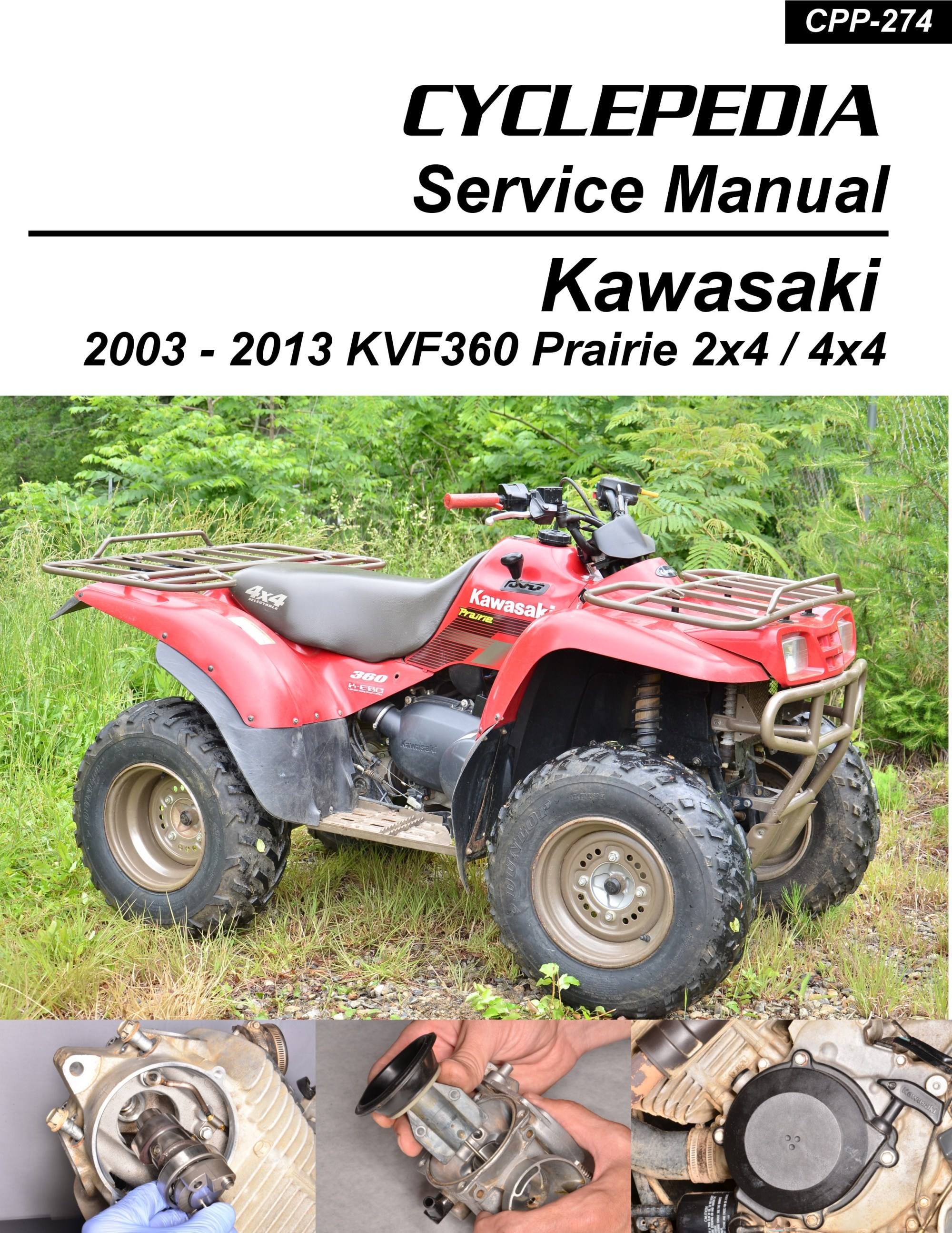 hight resolution of kawasaki kvf360 prairie printed cyclepedia atv service manual 1 jpg