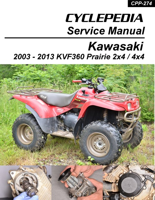 small resolution of kawasaki kvf360 prairie printed cyclepedia atv service manual 1 jpg