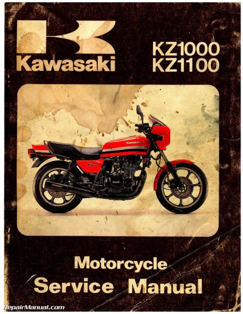 small resolution of 1981 1982 kawasaki kz1000 kz1100 motorcycle repair service manual wiring an exhaust fan 78 kz1000 b2 wiring schematic