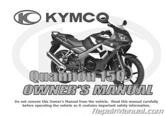 Kymco Quannon 150 Motorcycle Owners Manual