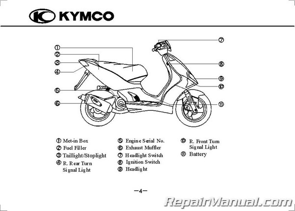 Kymco Super 9 50 AC Scooter Owners Manual