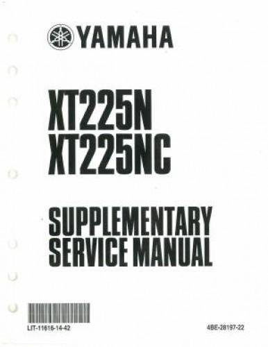 Used 2001 Yamaha XT225N NC Service Manual Supplement