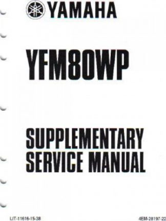2006 Yamaha YFM400FV Big Bear ATV Owners Manual