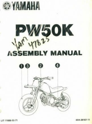 1982 Yamaha XS400RJ Seca Motorcycle Assembly Manual