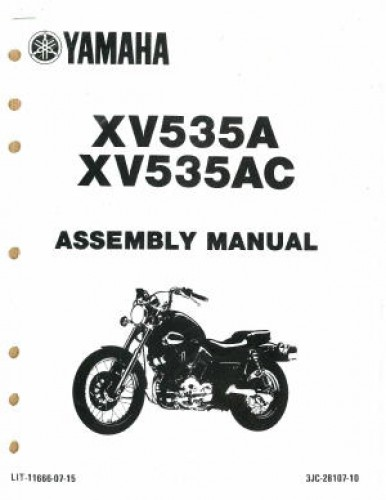 Used 1990 Yamaha XV535A AC Assembly Manual