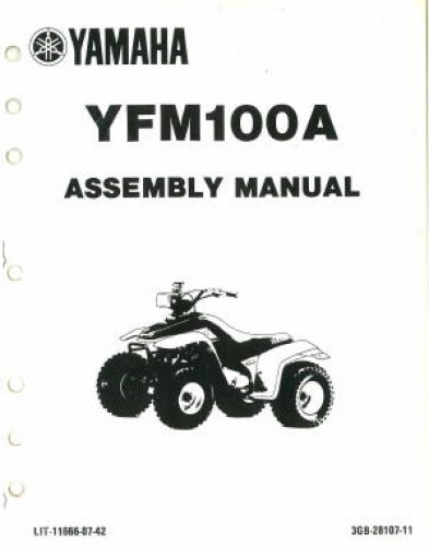 Used 1990 Yamaha YFM100A Assembly Manual