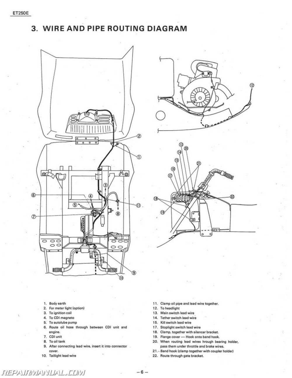 medium resolution of 1978 1981 yamaha enticer et250 snowmobile service manual 1980 yamaha 100 enduro 1979 yamaha dt 100
