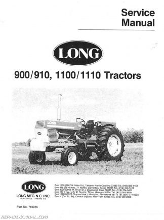 Massey-Ferguson MF202 203 204 205 Tractor Parts Manual