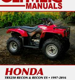 1997 2016 honda trx250 recon es atv repair manual by clymer wiring diagram for honda recon atv [ 1024 x 1483 Pixel ]