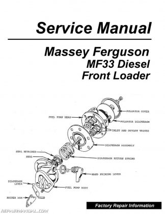Massey-Ferguson MF30 Tractor Parts Manual