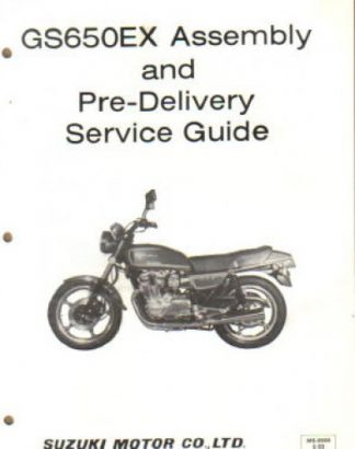 Used 1983 Suzuki GS650GD Assembly Manual