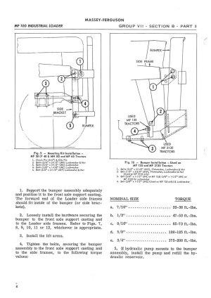 Massey Ferguson MF100 MF200 Loader Service Manual | eBay