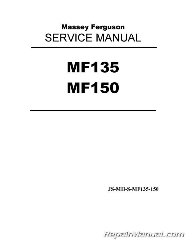 Massey Ferguson MF135 MF150 Tractor Service Manual