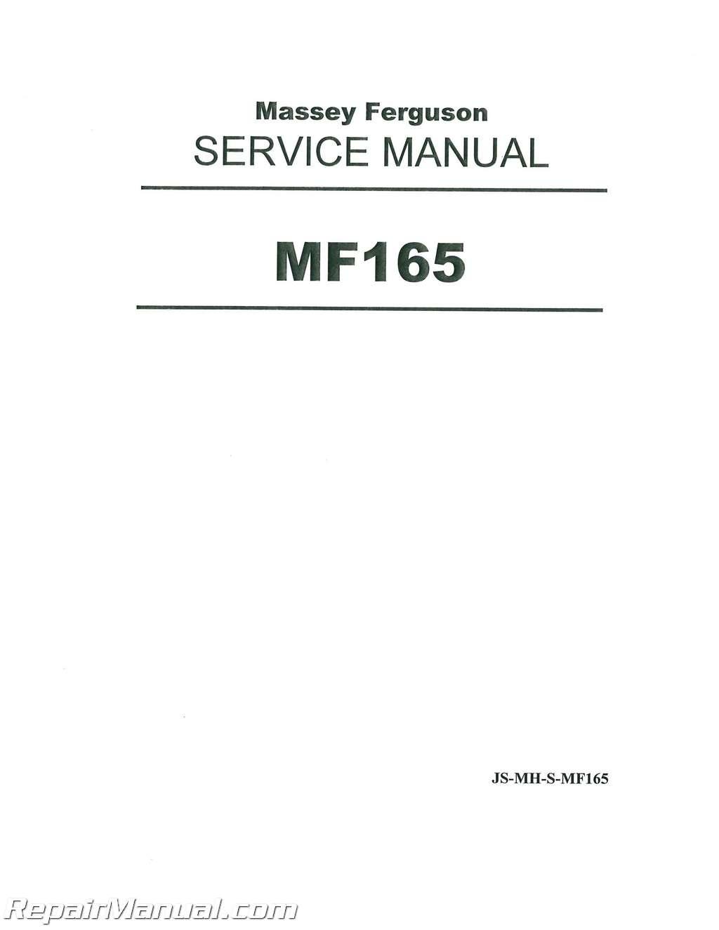 massey ferguson 175 parts diagram industrial wiring mf150 mf165 mf175 mf180 tractor service manual