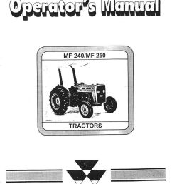 massey ferguson mf240 and 250 operators manual rh repairmanual com massey ferguson starter wiring diagram massey [ 1024 x 1366 Pixel ]