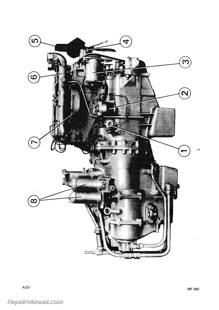 Massey Ferguson MF300 Diesel Crawler Loader Angledozer