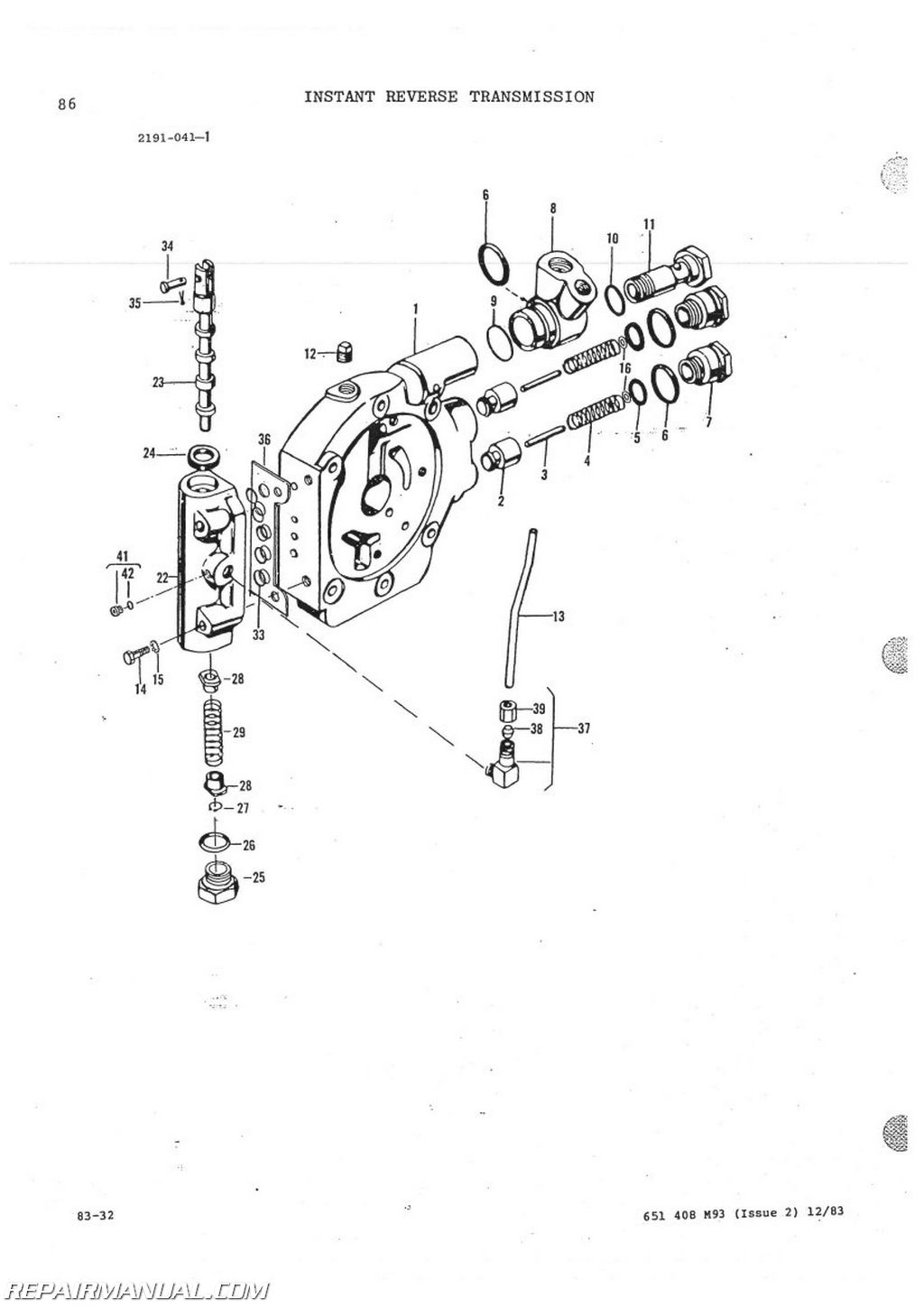 Massey-Ferguson MF60 Tractor Loader Backhoe Parts Manual