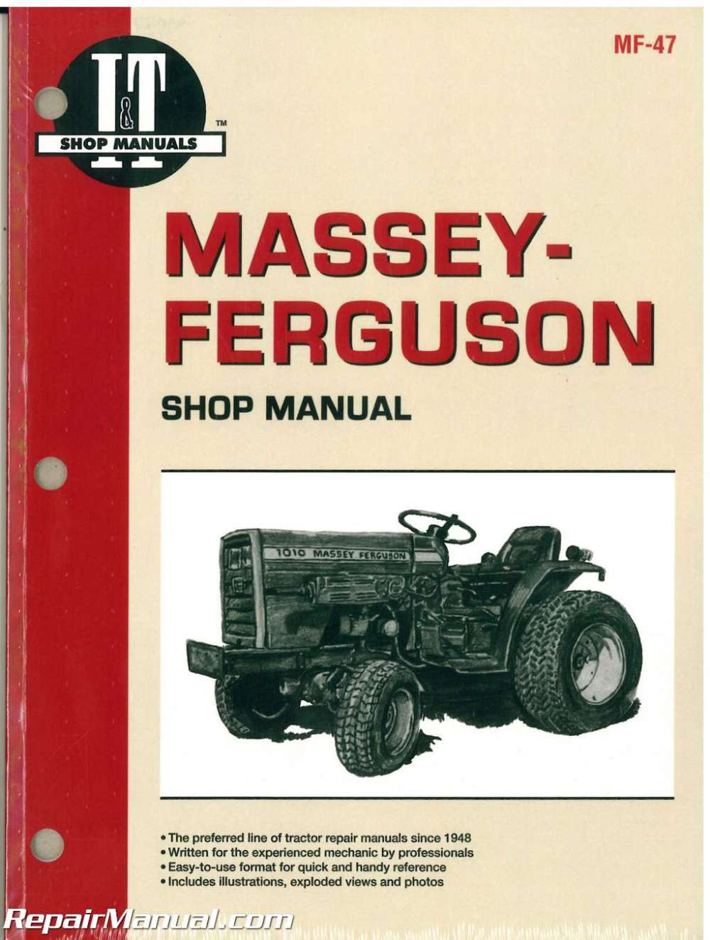 medium resolution of massey ferguson massey harris 1010 1020 tractor manual rh repairmanual com