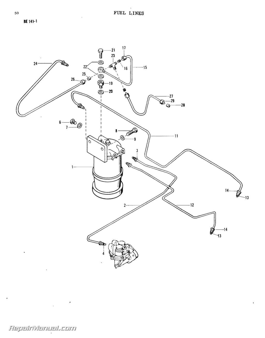 hight resolution of massey ferguson model mf20 mf25 mf30 industrial wheel tractor parts manual