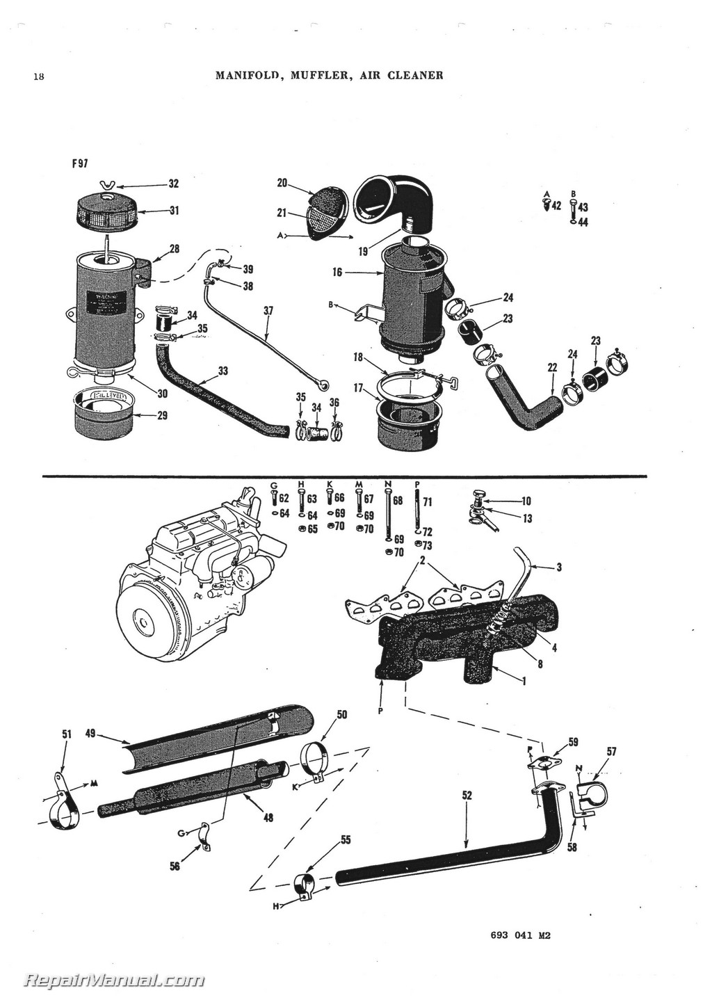 Massey-Ferguson TO-30 TO-20 TE-20 TEA-20 Parts Manual