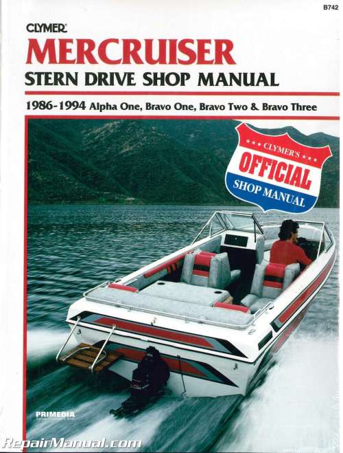 small resolution of used mercruiser alpha one bravo one bravo two bravo three 1986 1994 stern drive boat engine repair manual