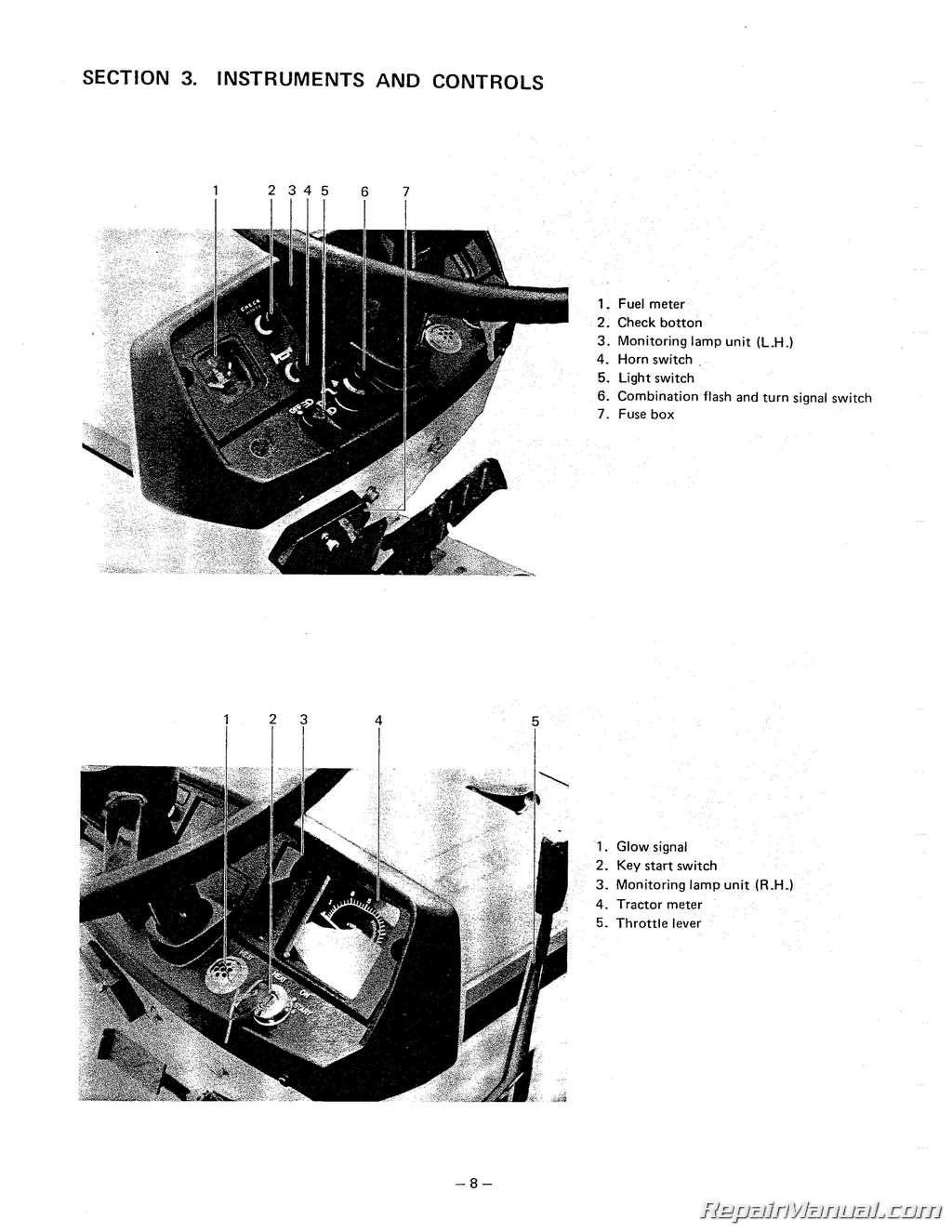hight resolution of mitsubishi mt160 mt180 compact tractor operators manual rh repairmanual com mahindra tractors mahindra tractors