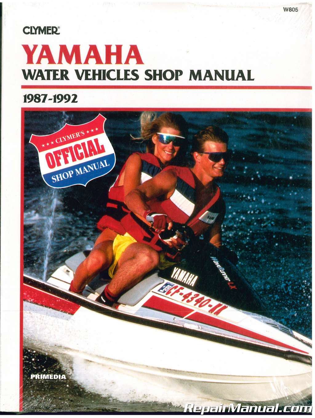 hight resolution of 1987 1992 yamaha waverunner wavejammer personal watercraft repair manual clymer