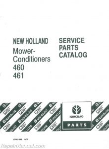 New Holland 461 Haybine Parts Manual