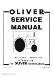 Oliver & Cockshutt 1365 1370 Tractor Parts Manual