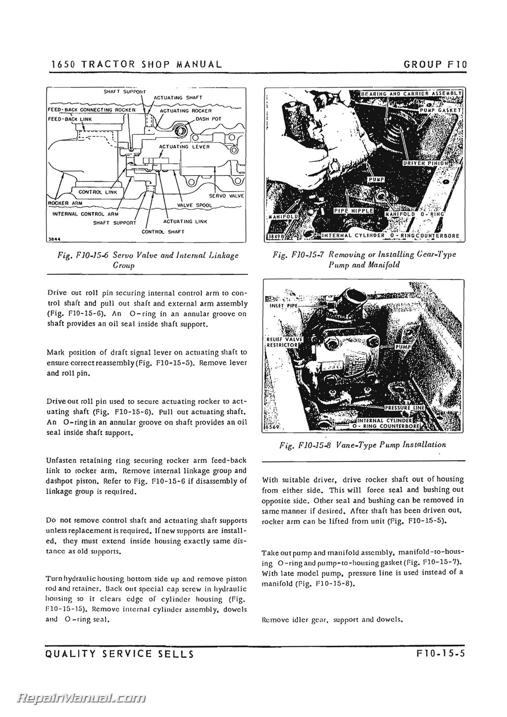 Oliver 1650 1655 2-78 4-78 Tractor Service Manual