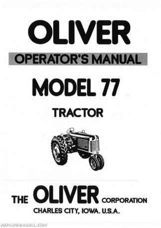 Oliver & Cockshutt G / T Series Farm Tractor Repair Manual