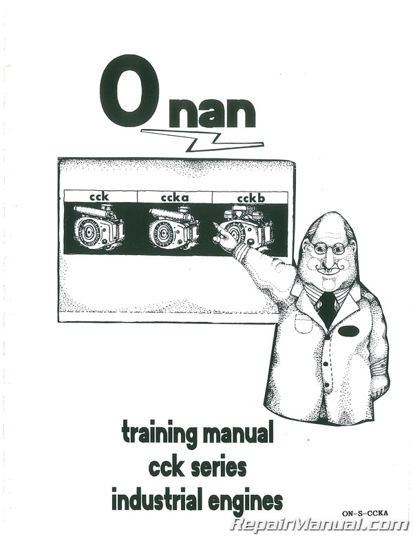 Onan CCKA Series Engine Only Plus Parts Manual Service Manual