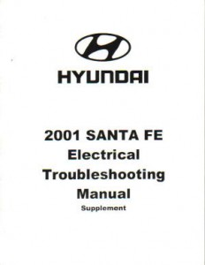 2001 Hyundai Santa Fe Electrical Troubleshooting Manual